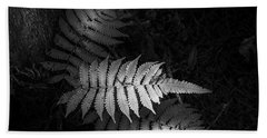 Fern Life B/w Beach Towel