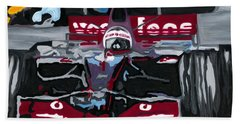 Fernando Alonso Wins Monaco For Mclaren 2008 Beach Towel