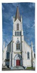 Ferndale Catholic Church Beach Towel by Greg Nyquist
