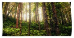Beach Towel featuring the photograph Ferngully by Rick Furmanek