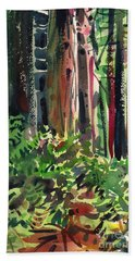 Ferns And Redwoods Beach Sheet by Donald Maier