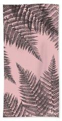 Ferns On Blush Beach Towel