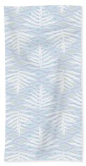 Ferns On Diamonds Lilac Gray Beach Towel