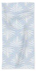 Ferns On Diamonds Lilac Gray Beach Towel