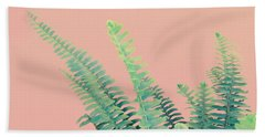 Ferns On Pink Beach Sheet