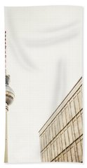Fernsehturm And Building In Berlin Beach Towel
