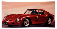 Ferrari 250 Gto 1962 Painting Beach Towel