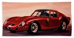 Ferrari 250 Gto 1962 Painting Beach Sheet by Paul Meijering