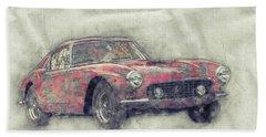 Ferrari 250gt Berlinetta 1 - Tour De France - Sports Car - Automotive Art - Car Posters Beach Towel