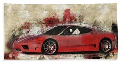 Beach Towel featuring the photograph Ferrari 430  by Joel Witmeyer