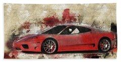 Beach Sheet featuring the photograph Ferrari 430  by Joel Witmeyer