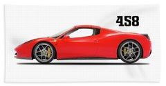 Ferrari 458 Italia Beach Towel