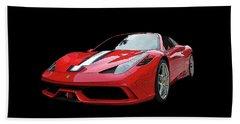 Ferrari 458 Speciale Aperta Beach Towel