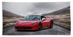 Ferrari 458 Beach Towel by Stephan Grixti