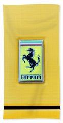 Ferrari Badge Beach Sheet by Theresa Tahara