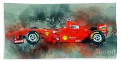 Ferrari F1 Beach Towel