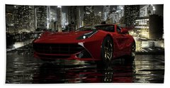 Ferrari F12berlinetta Beach Sheet by Louis Ferreira