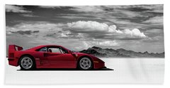 Ferrari F40 Beach Towel by Douglas Pittman