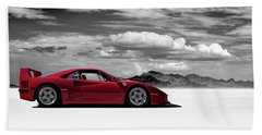 Ferrari F40 Beach Towel