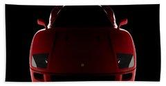 Ferrari F40 - Front View Beach Towel