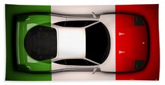 Ferrari F40 - Italian Flag Beach Towel