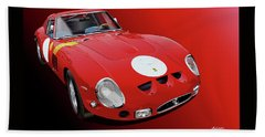 Ferrari Gto Illustration Beach Sheet
