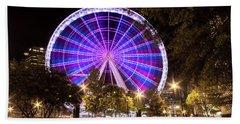 Ferris Wheel At Centennial Park 1 Beach Towel