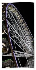 Ferris Wheel At Night 16x20 Beach Sheet