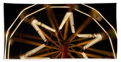 Ferris Wheel At Night Beach Sheet