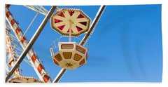 Ferris Wheel Cars In Toulouse Beach Sheet by Semmick Photo