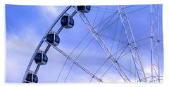 Ferris Wheel Beach Towel by Cathy Donohoue