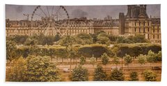 Paris, France - Ferris Wheel Beach Towel
