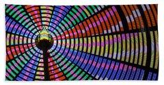 Ferris Wheel Night Colors Beach Towel