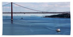 Beach Towel featuring the photograph Ferry Across The Tagus by Lorraine Devon Wilke