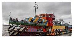 Ferry Cross The Mersey - Razzle Boat Snowdrop Beach Sheet