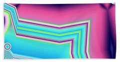 Beach Towel featuring the digital art Fertile by Ron Bissett