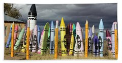 Festival Of The Crayons Beach Towel
