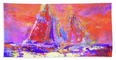 Festive Sailboats 11-28-16 Beach Towel
