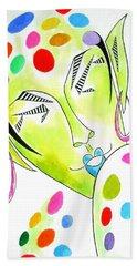 Fey -- The Original -- Fantasy Elf Portrait With Polka Dots Beach Sheet