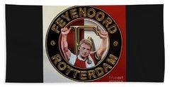 Feyenoord Rotterdam Painting Beach Sheet by Paul Meijering