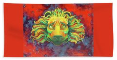 Beach Towel featuring the painting Fidardo's Lion by Andrew Danielsen