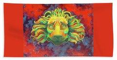 Fidardo's Lion Beach Towel by Andrew Danielsen