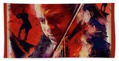 Fiddler Beach Towel by Ted Azriel