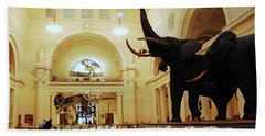 Beach Towel featuring the photograph Field Museum by James Kirkikis