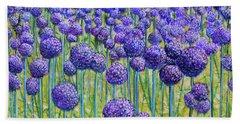Field Of Allium Beach Sheet