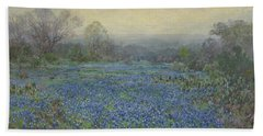 Field Of Bluebonnets Beach Towel