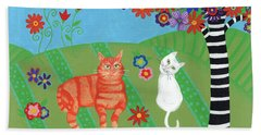Field Of Cats And Dreams Beach Towel