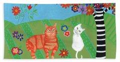 Kitty Cat Meadows Beach Towel