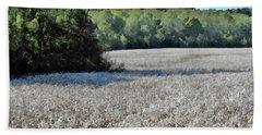 Field Of Cotton Beach Towel