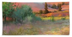 Beach Towel featuring the painting Field Of Dreams by Steve Henderson